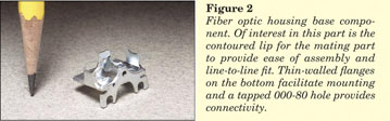 Figure 2 - Miniature Zinc Casting - Fiber Optic Housing Base Component