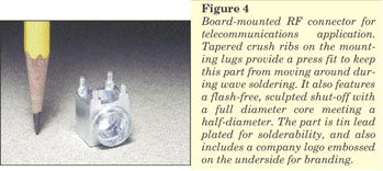 Figure 4 - Miniature Zinc Casting - Board-mounted RF Connector