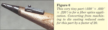 Figure 6 - Miniature Zinc Casting - Fiber Optics Component